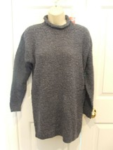 Nwt Styles To Go Steel Blue Poodle Knit Tunic Sweater Size Xsmall - $18.80
