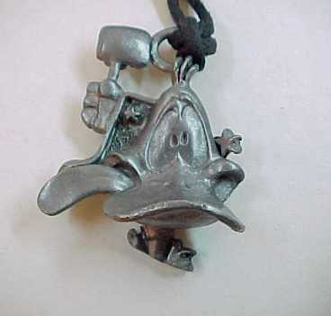 1993 Warner Bros DAFFY DUCK Pewter Necklace by Starline