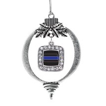 Inspired Silver North Dakota Thin Blue Line Classic Holiday Ornament - $14.69