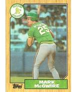 1987 topps mark mcgwire rookie baseball card oakland athletics cardinals... - $2.99