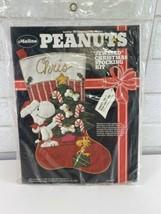 """Malina Peanuts SNOOPY Felt Sweet Tree Christmas Stocking Kit 18"""" RARE NO... - $79.95"""