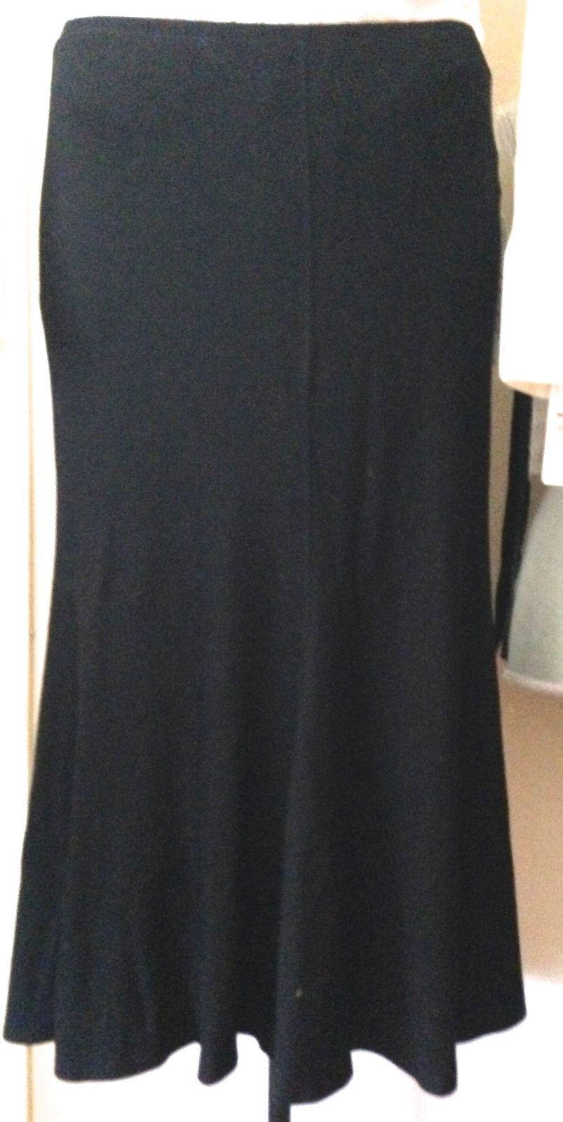 $995 DONNA KARAN black label collection  jersey spandex skirt M - $269.00