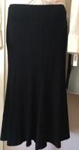 $995 DONNA KARAN black label collection  jersey spandex skirt L - $349.70