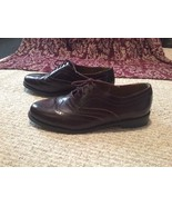 Mens 10.5 10 1/2 D STAFFORD Genuine Leather brn Wing tip Oxford dresss S... - $30.78