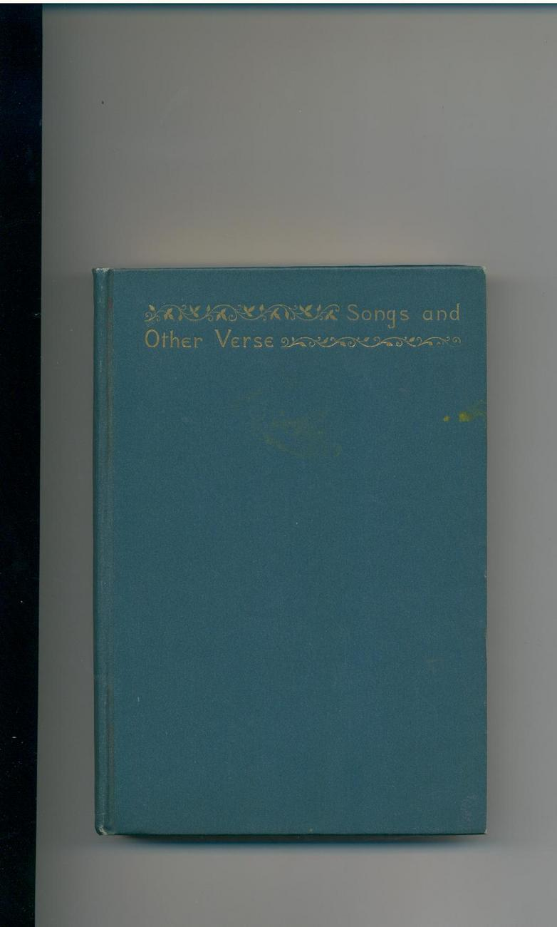SONGS & OTHER VERSE - Eugene Field - 1896 1st ed.