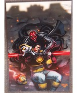 Star Wars Darth Maul vs Power Rangers White Ranger Glossy Print 11 x 17 - $24.99