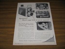 1956 Print Ad Kodak Brownie Movie Camera Fishing,Canoe & Squirrel - $12.03