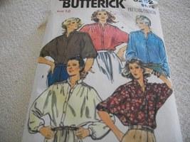 Misses' Blouse Pattern Butterick 6252 - $10.00