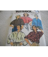 Misses' Loose Fitting Blouse Pattern Butterick 6252 - $10.00