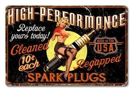 Spark Plug Girl High Performance Everytime - $29.95