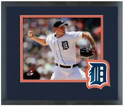 Max Scherzer 2014 Detroit Tigers - 11 x 14 Team Logo Matted/Framed Photo - $42.95
