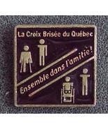 Broken Cross La Croix Brisee du Quebec Pin Pinback - $9.90