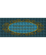 Bonanza Booth Banner- Blue Plaid and Gold Frame - $2.39