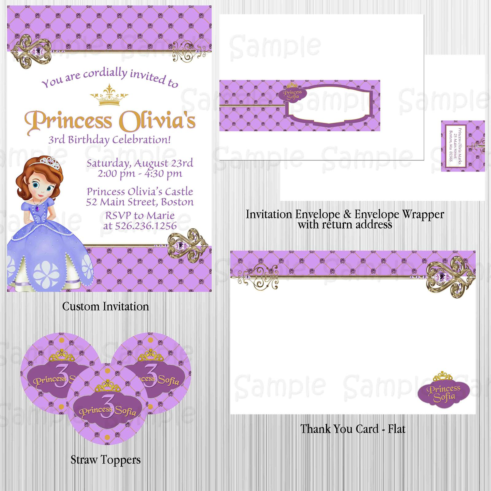 Sofia the First Princess Birthday Party and 17 similar items