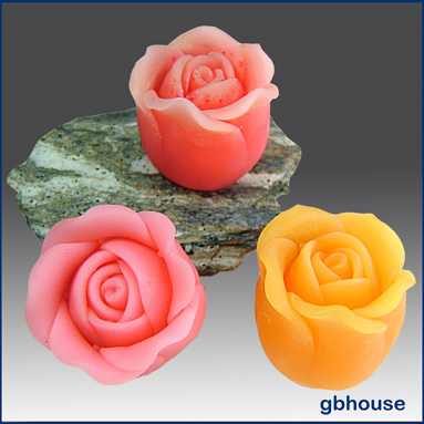 Silicone soap / floating candle Mold - Victorian Rose