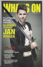JAN ROUVEN  @ WHATS ON Las Vegas Magazine Mar 2014 - $1.95