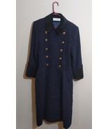 Christian Dior Military Wool Coat With Gold Buttons Velvet Collar Size 1... - $247.49