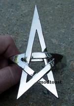 Pentagram Bracelet Star Jewelry Silver Armor Avant Garde Celestial Statement - $16.99
