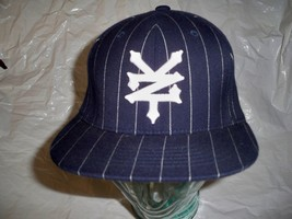 MEN'S ZOO YORK PINSTRIPE HAT/BALL-CAP/LID NAVY W/ WHITE EMBROIDERED LOGO... - $22.99