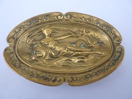 The Nymph, a Vintage Art Nouveau Bronze Trinket... - $153.00