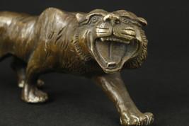Vintage Bronze Handcarved Tiger - $75.00