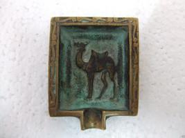 Unique vintage bronze camel ashtray - $120.00