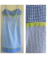 Striped blue sundress 4 Empire Cotton blend Spa... - $37.99