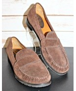 Cole Haan Size 7 B Brown Suede Leather Comfort Moccasin Loafers Women's ... - $33.24