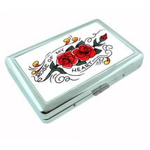 Rose of my Heart Tattoo Retro Silver Cigarette Case 340 - $13.48