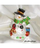 Snowman votive Christmas figurine  - $15.99