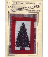 3-D Christmas Tree wallhanging pattern - $3.00