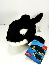 "Aurora World Plush Flopsie Orca Black White WHALE NEW Stuffed Animal 9"" - $14.84"