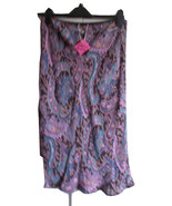 Purple paisley lined skirt. Size10, Lined , floaty bottom. One off Garme... - $25.00