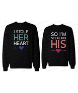 His and Her Matching Couple Sweatshirts - I Stole Her Heart, So I'm Stea... - $40.99+