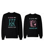 His and Her Matching Couple Sweatshirts - I Love My Monster - $40.99+