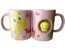 Looney Tunes Tweety Bird Figure Ceramic Spinner Coffee Mug, NEW UNUSED - $15.47