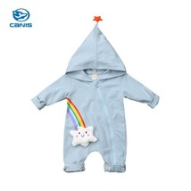 0 18M Cute Newborn Baby Boy Girl Rainbow Clothes Long Sleeve Zipper Hood... - $12.60