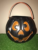 """Vintage Halloween 8"""" Black Grand Venture Trick-Or-Treat Candy Pail With ... - €4,80 EUR"""