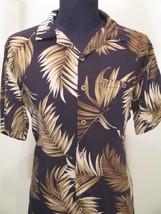 Joe Marlin Medium Dress Shirt Short Sleeve Beach Palm Trees Rayon - $26.00