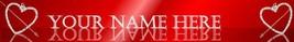 Valentine Banner Red Silver hearts Custom Designed Web Banner Bonanza Si... - $7.00