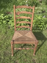 Country French Ladder-Back Accent Chair;Rush Seat;Mission/Shaker-Style;N... - $80.00