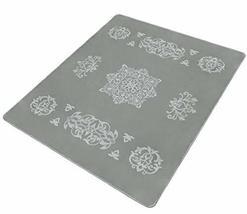 Solaron Collection Contemporary Embossed Quatrefoil Pattern Design Area ... - $79.19
