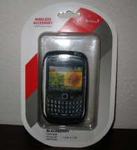 Black Snap On Cover for Blackberry Hybrigel Curve 2 Phone New & Sealed #D72 - $9.99