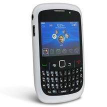 White Silicone Snap On Cover for Blackberry 8520-8530 Phone New & Sealed... - $9.99