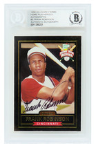 Frank Robinson Signed Hillshire Farms Home Run Heroes Baseball Trading Card - $95.00