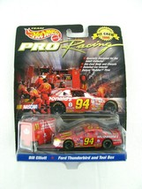 NEW Hot wheels Pro Racing Pit Crew 1998 #94 Bill Elliott Ford Taurus & T... - $16.77