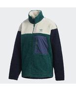 New Adidas Originals 2021 Womens Blue Sherpa Jacket Fleece Track Hoodie GL6407 - $169.99