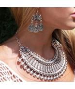 New Design women Cleopatra Style  Silver Plated Necklace+bracelet - $29.00