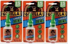 3 New!!! Gorilla Glue Super Glue Gel  .53oz Adhesive No Run Control 0524... - $27.23