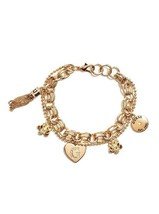 NWT Guess Gold Metal Double Chain-Clear Rhinest... - $21.77